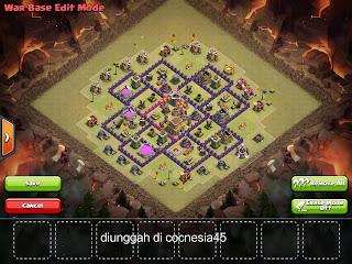 Base Clash of Clans TH8 Terkuat Untuk War