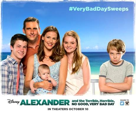 Poster Of Hollywood Film Alexander and the Terrible Horrible No Good Very Bad Day (2014) In 300MB Compressed Size PC Movie Free Download At worldfree4u.com