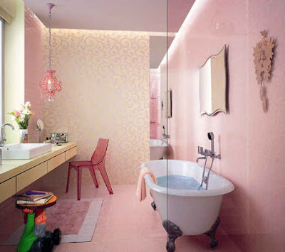 Bathroom Pink Color