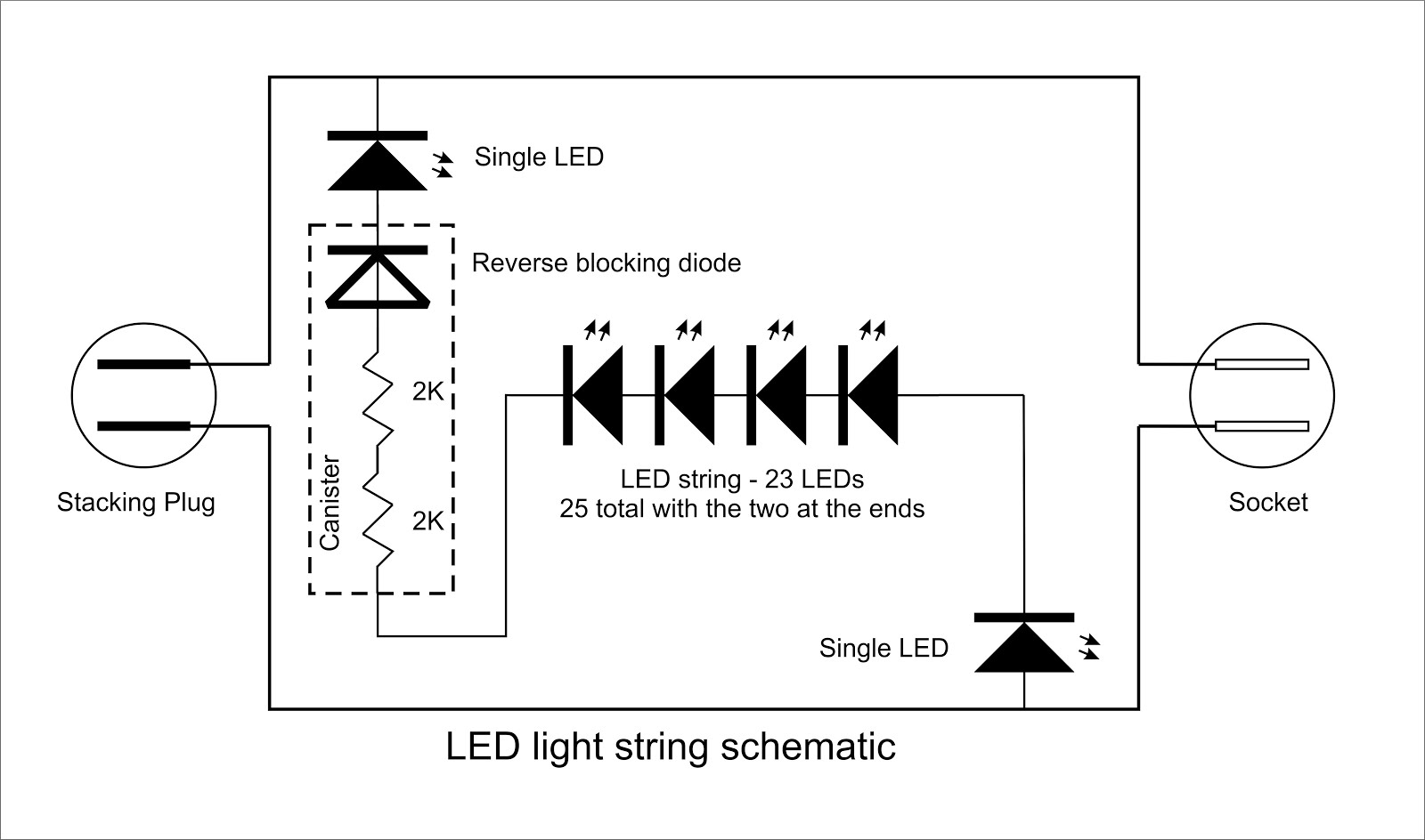 Christmas Light String Diagrams