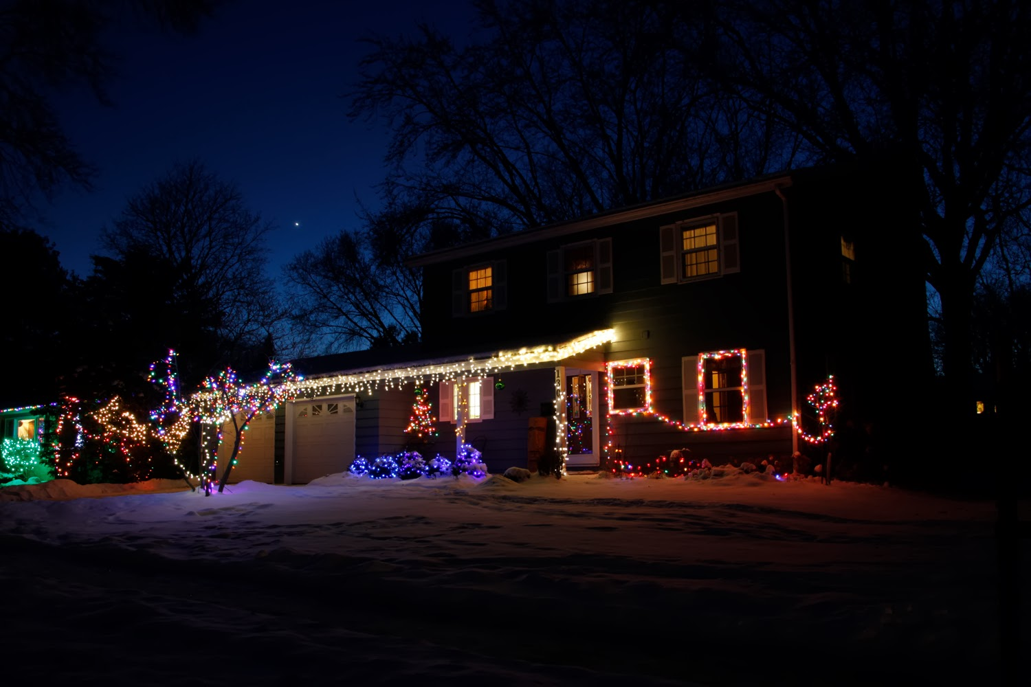 holiday lights, Christmas lights, photography, how to, blue hour