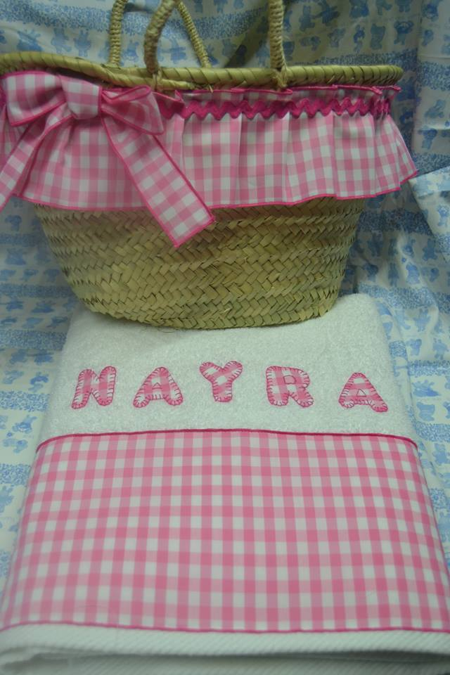El costurero de yolanda cestas playa y toalla a juego - Cestas de playa personalizadas ...