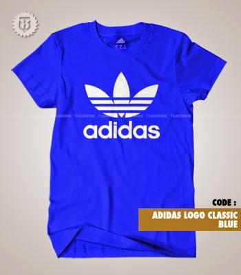 Thanwine shop kaos t shirt adidas logo classic for Adidas custom t shirts