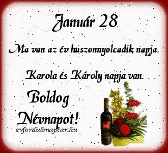 Január 28, Károly, Karola névnap