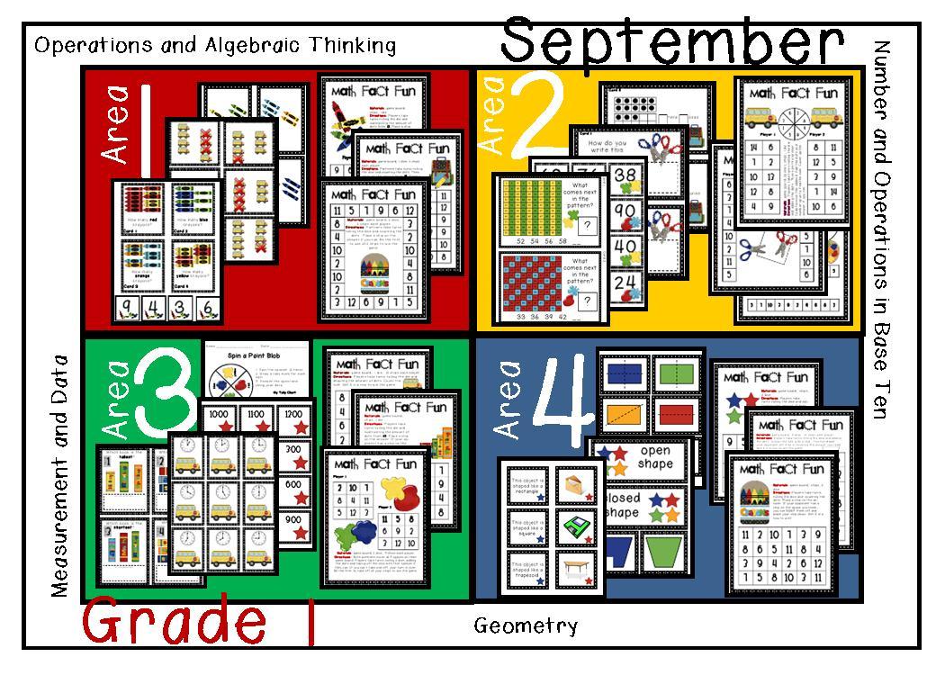 first grade math centers pdf