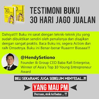 Buku 30 HARI JAGO JUALAN dari Dewa Eka Prayoga Hendy Setiono