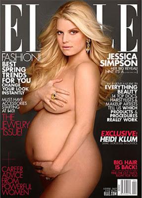 Бременната Джесика Симпсън с голи снимки за ELLE