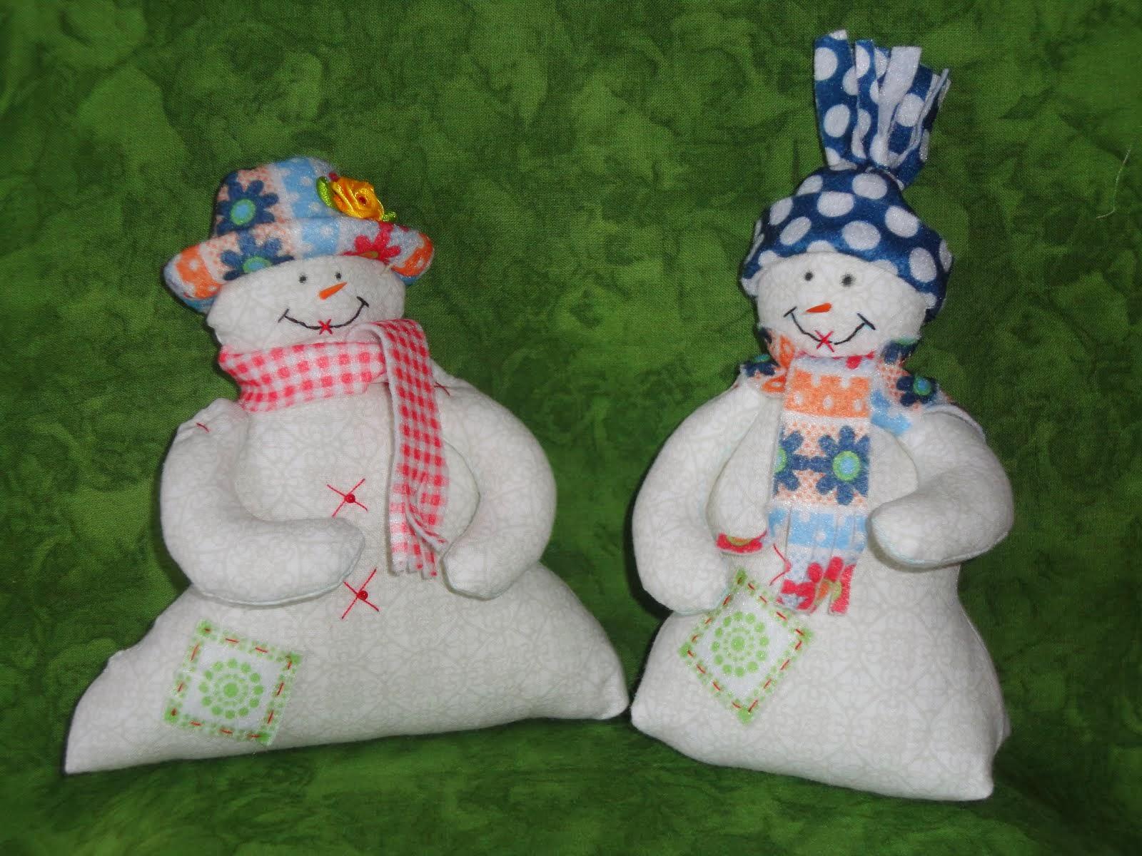 Sneeuwmannen patroon/pakketje. Ze zijn er weer.
