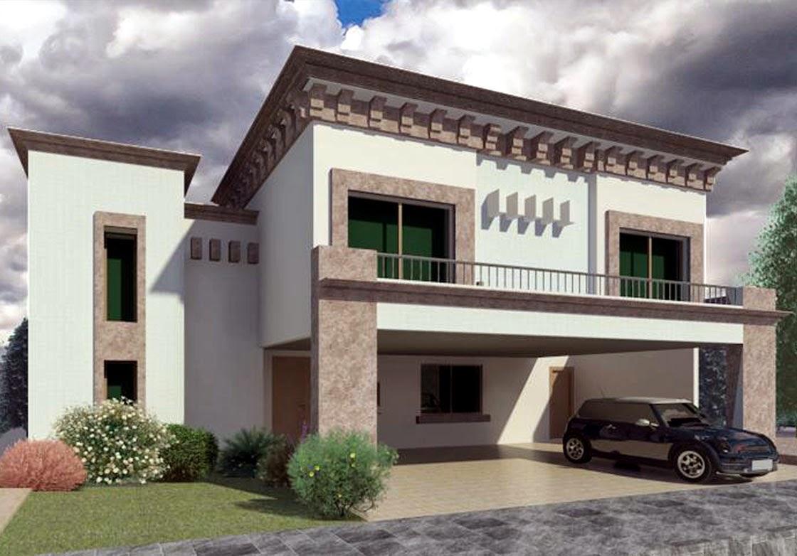 Fachadas de casas modernas fachada elegante modelo austria for Ideas para fachadas de casas