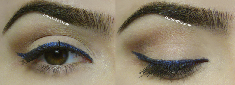 Pop of blue eye makeup