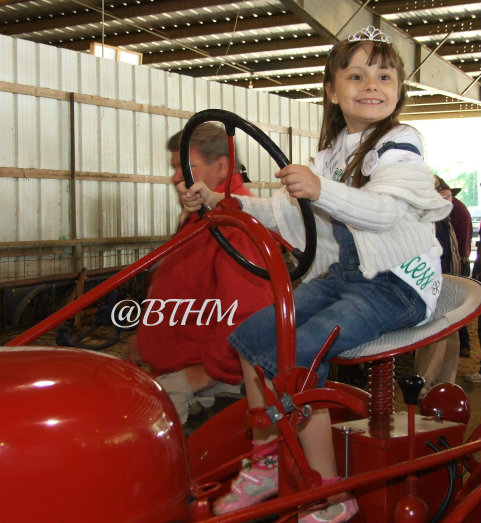miss grace on ih tractor
