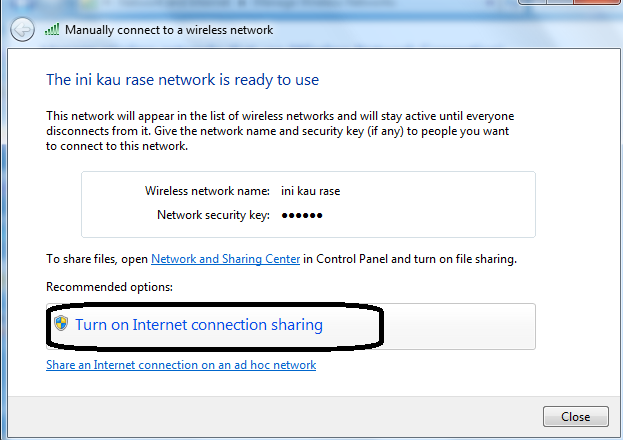 how to turn on internet sharing in windows 8