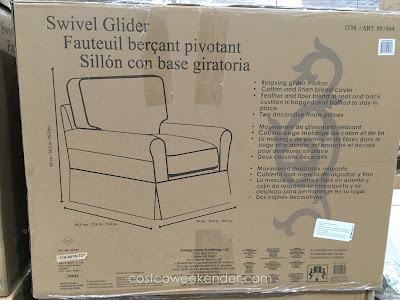 Relax the afternoon away on the Synergy  Swivel Glider at Costco