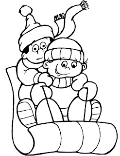 Winter Coloring Pages on Correo Colouring Pages