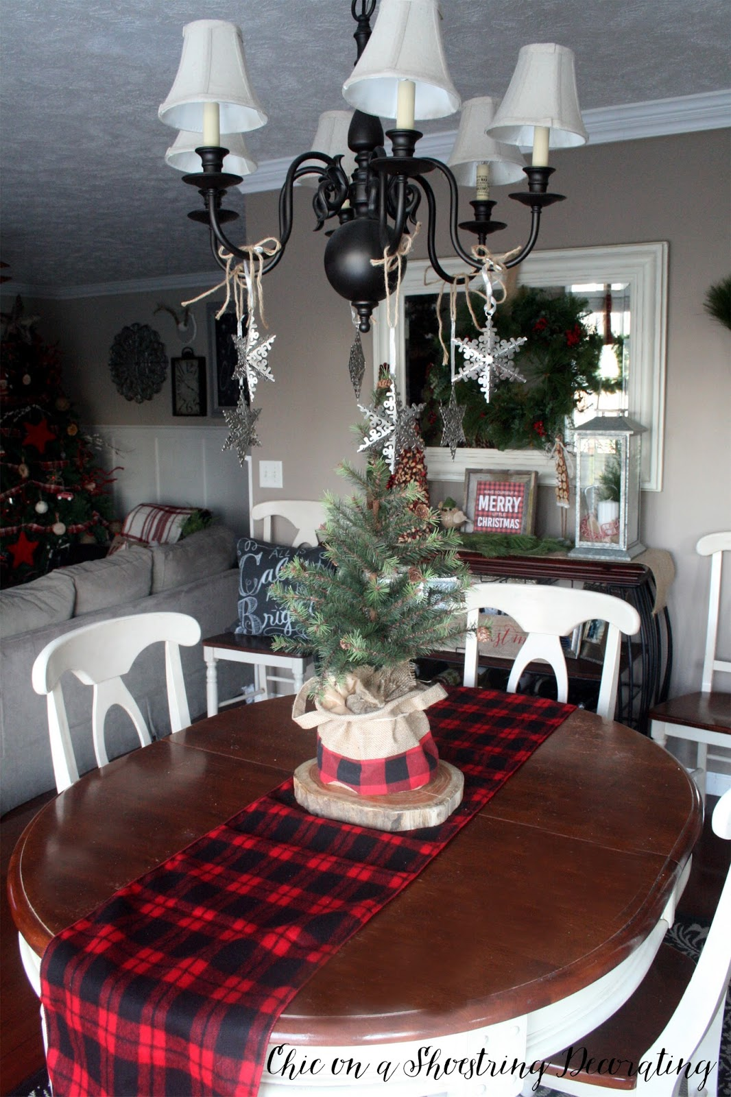 Chic on a Shoestring Decorating Farmhouse Christmas Decor Merry & Bright Home Tour Part 1