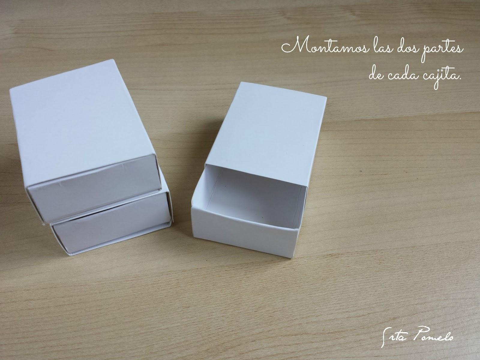 Srta pomelo diy c mo hacer unas cajas de cerillas - Como hacer cajas de cartulina ...