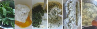 Zubereitung Wildkräuter-Gnocchi