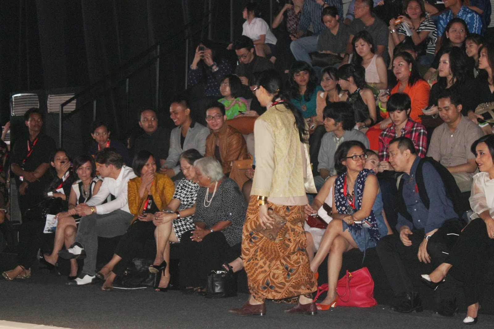 A stack of macaroons waiting for jakarta fashion week 2014 the crowd from last jfw 2013 stopboris Images