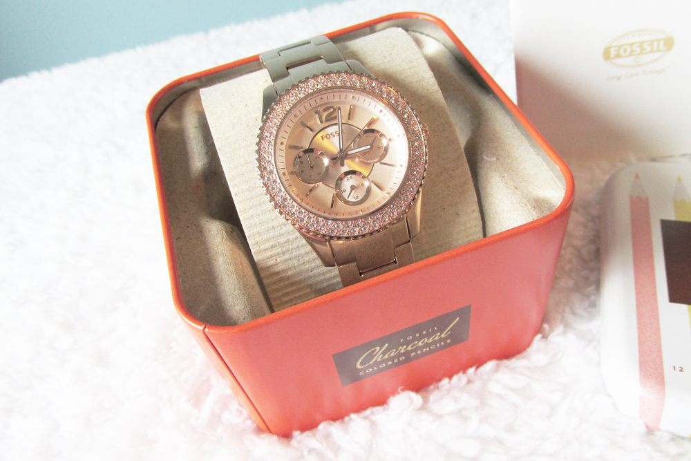 Fossil, fossil rose gold watch, fossil watch, fossil rose gold watch review, fossil stella rose gold watch review, joshua james jewellery, online jewellery stockists, joshua james jewellery fossil watch review