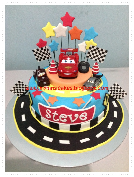 Mynata Cakes Car birthday cake for Steve