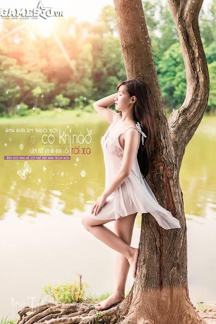 Ngọc Trần bán khỏa thân mộng mơ trong rừng 2