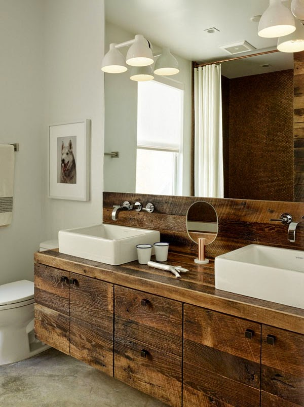 rustic bathroom vanity, salvaged wood vanity