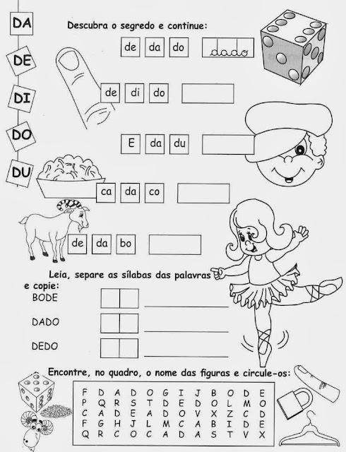 cruzadinha, Atividades com a Letra D,alfabeto,alfabetização,anos iniciais, atividades para imprimir,letras,letra D,1º ano, ensino fundamental.