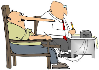 Cartoon of a polygraph exam where subject nose is growing.