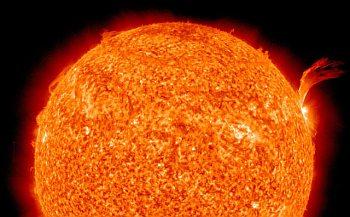 słońce, wybuch, gorąco, lato
