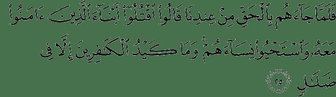 Surat Al Mu'min Ayat 25