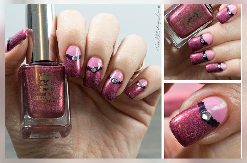 Frühlingshaftes NOTD | A England 'Briar Rose' Frühling Nails Naildesign 2015 Trend