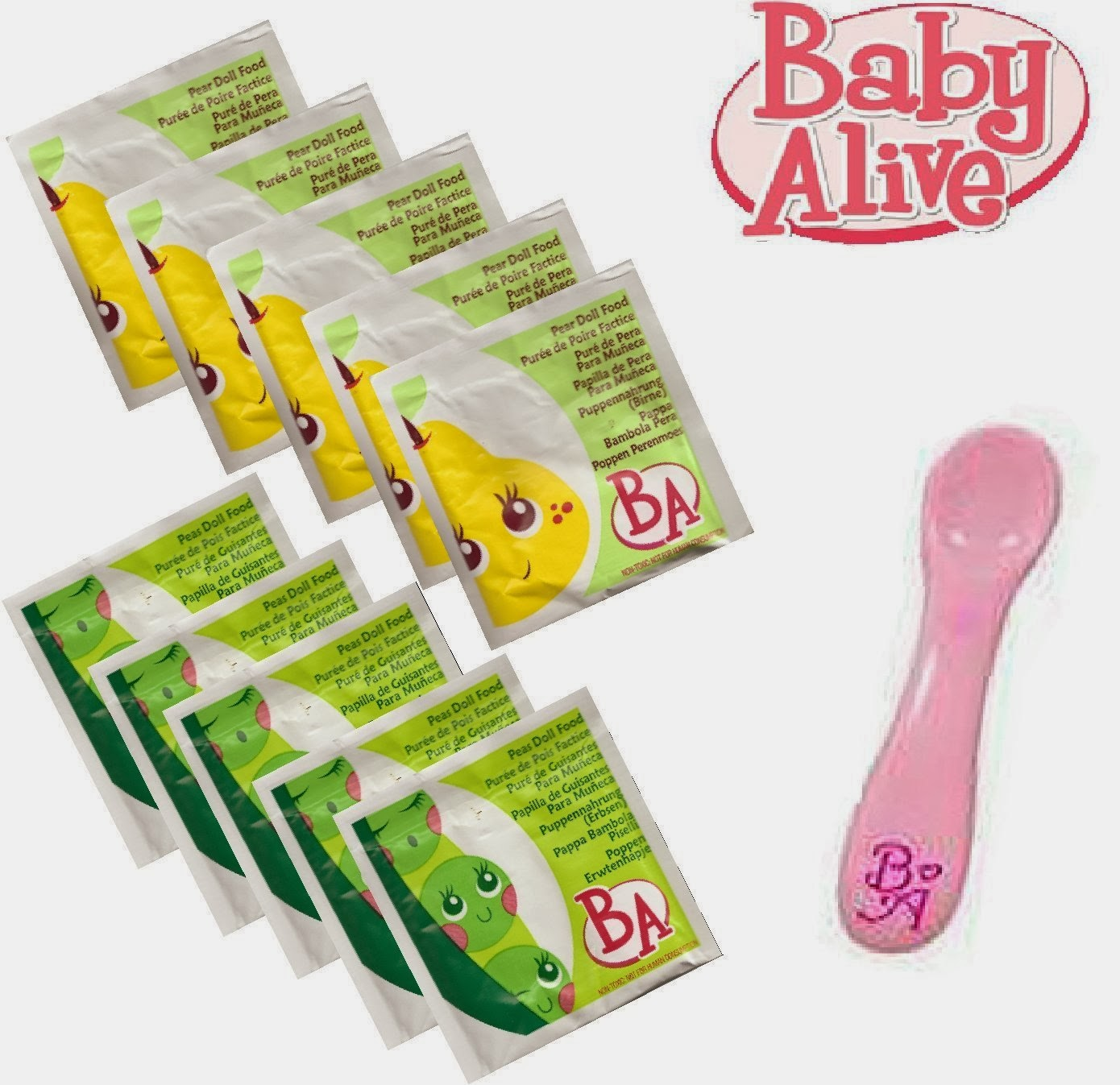 What is in Baby Alive Food?