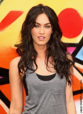 megan fox hair updos. megan fox hair highlights.