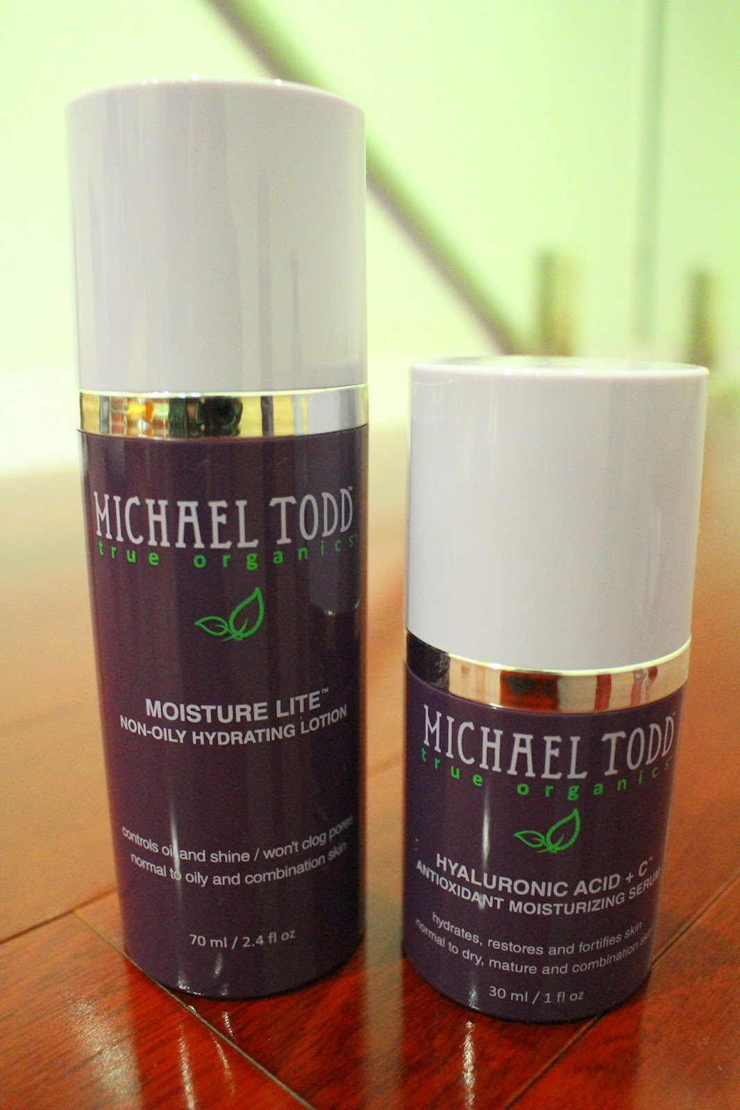 Michael Todd Moisture Lite Non-Oily Hydrating Lotion and Hyaluronic Acid + C Antioxidant Moisturising Serum