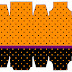 Naranja, Negro y Morado: Cajas para Imprimir Gratis.