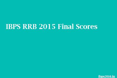 IBPS RRB 2015 Final Scores