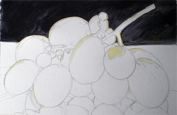 La Galería de Raúl: Racimo de uvas - acuarela