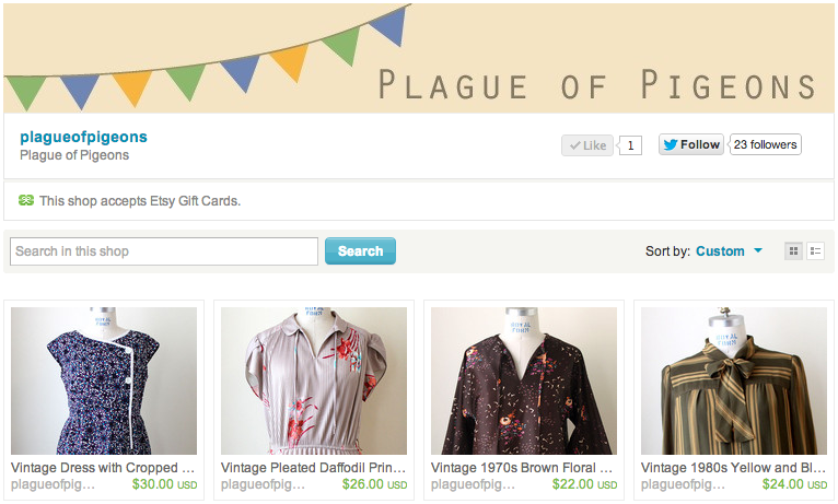 plague of pigeons etsy shop