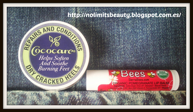 Cococare, Repairs and Conditions Dry Cracked Heels, .5 oz (11 g) - Sierra Bees, Organic Pomegranate Beeswax Lip Balm with Vitamin E, .15 oz (4.25 g)