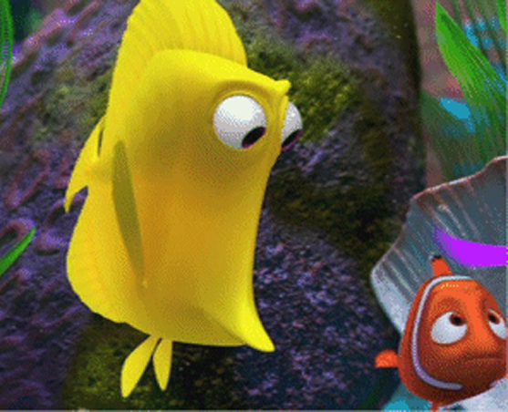 7 free disney pixar yellow fish bubbles from finding nemo for Finding nemo fish