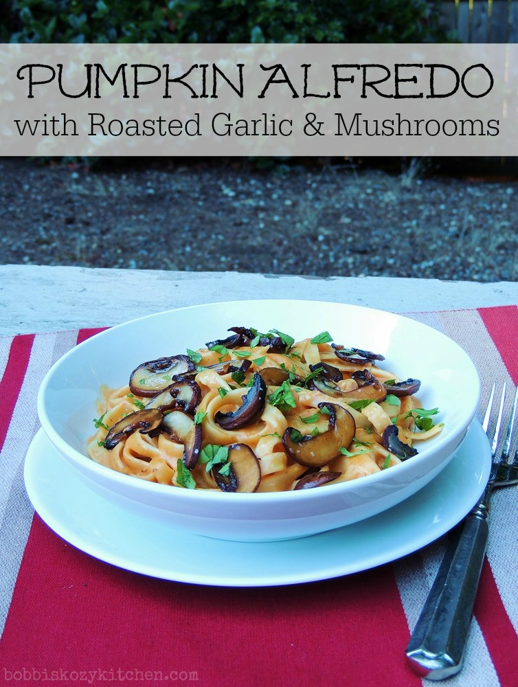 Vegan Pasta Alfredo with Roasted Cauliflower and Mushrooms recipes
