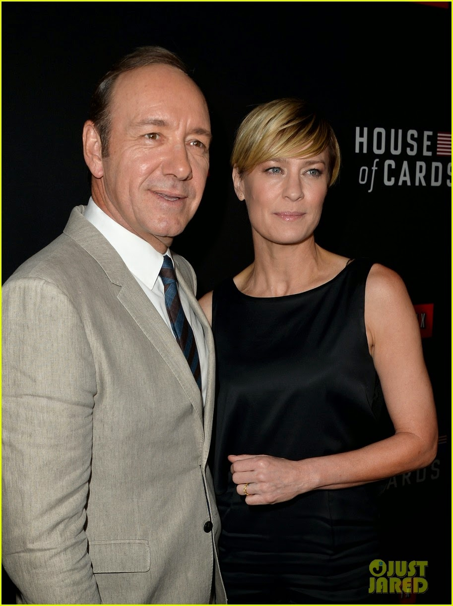 celeb diary kevin spacey and robin wright at a special screening of house of cards season two. Black Bedroom Furniture Sets. Home Design Ideas