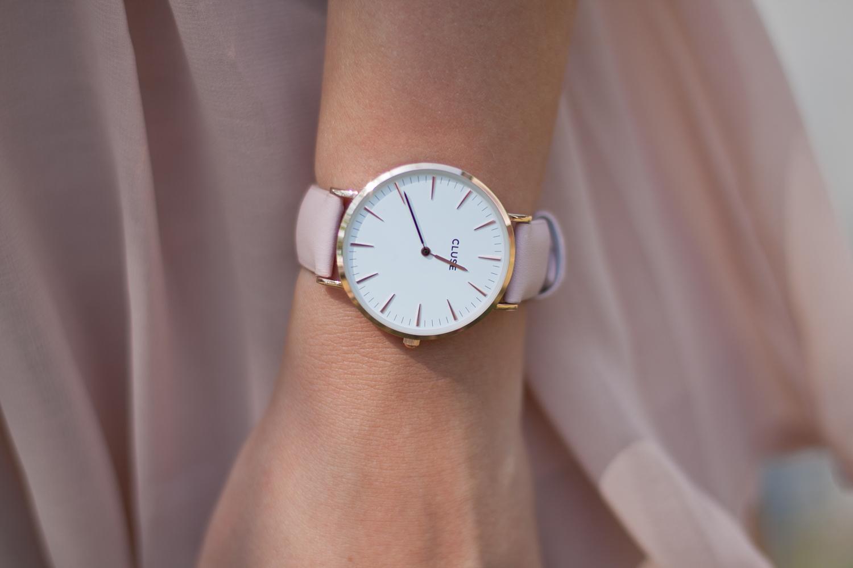 cluse różowo złoty zegarek