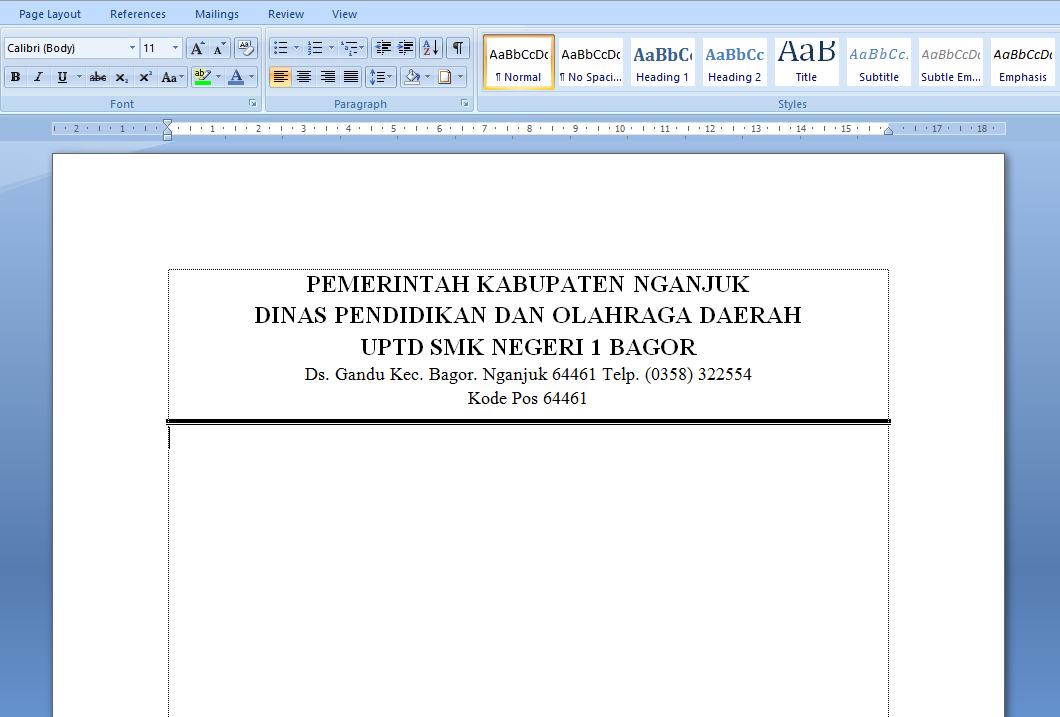 Cara Membuat Garis KOP Surat di Microsoft Word | BOKEP CHEMSY
