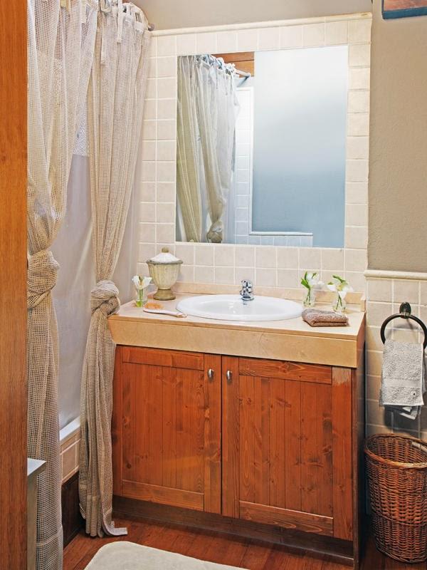 amenajari, interioare, decoratiuni, decor, design interior, rustic, lemn, baie
