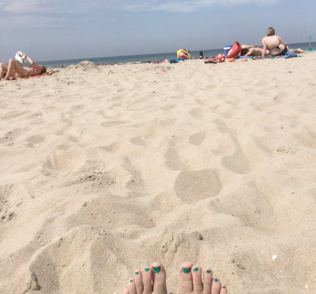 strand, monster, scheveningen, zomer