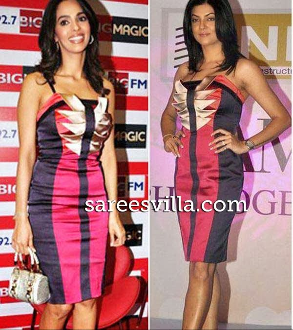 Sushmita Sen and Mallika in same dress