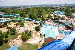 Airial view of water slide at Branson Missouri