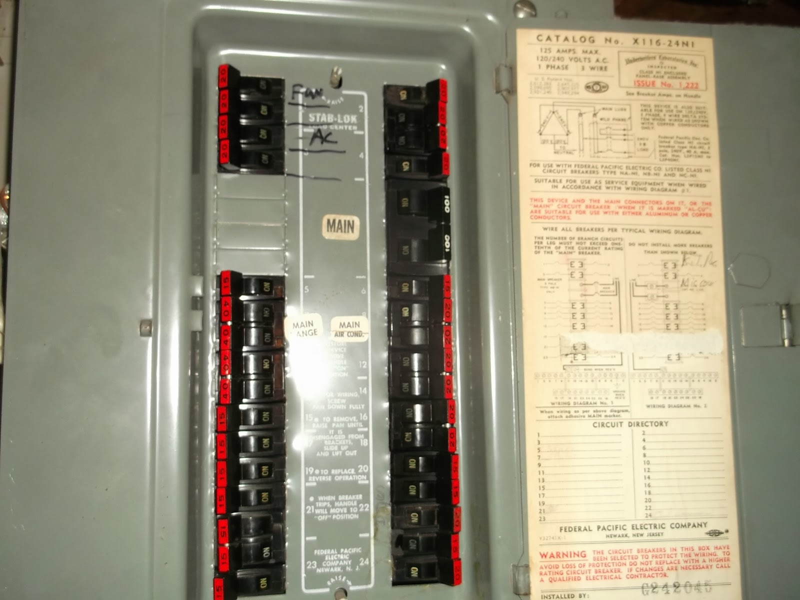 Sylvia Electrical Contracting Fuse Boxes From The 1950