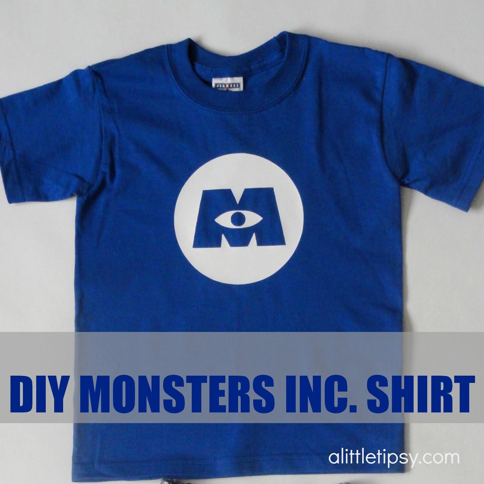 DIY Monsters Inc. Shirt - A Little Tipsy